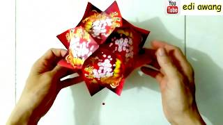 Cara Membuat Lampion dari kertas Angpao 用红包做灯笼 (Lantern Tutorial)