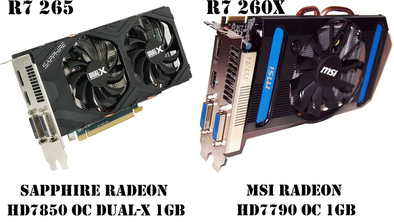 Sapphire HD7850 OC (R7 265-1GB) VS MSI HD7790 OC (R7 260X-1Gb), 3DMark, GTA V, Crysis 3,The Wicher 3