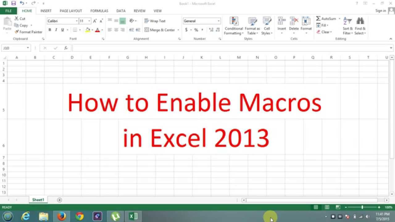 How enable macros in microsoft office excel 2013 youtube how enable macros in microsoft office excel 2013 ccuart Gallery