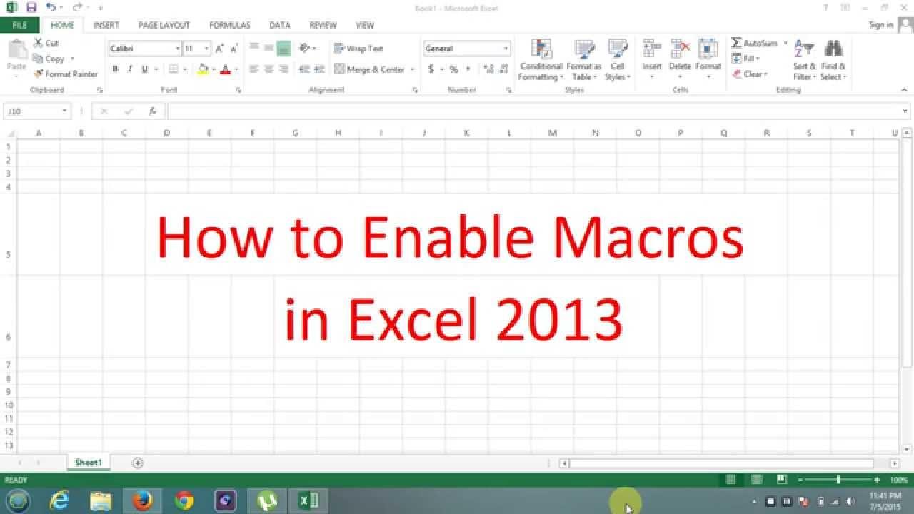 How Enable Macros In Microsoft Office Excel
