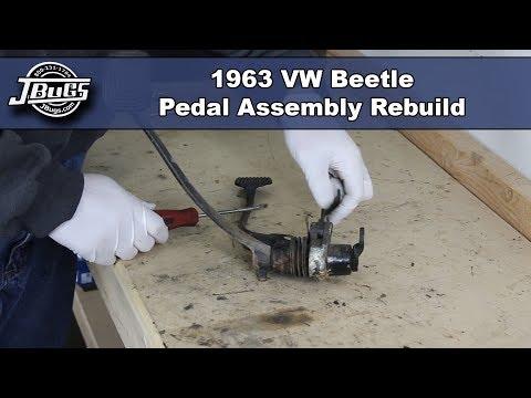 JBugs - 1963 VW Beetle - Pedal Assembly Rebuild