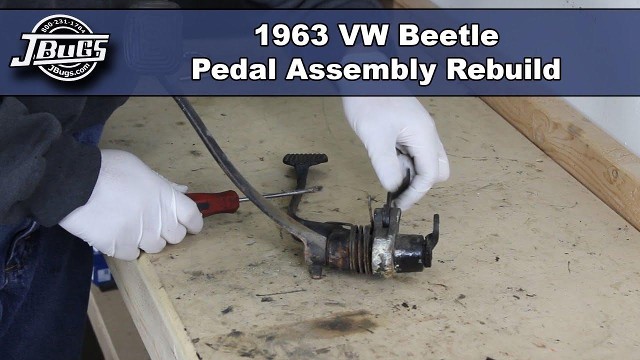 Jbugs 1963 Vw Beetle Pedal Assembly Rebuild Youtube Split Window Bus Fuse Box
