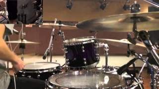 NARUTO疾風伝OP KANA-BOON 「シルエット」叩いてみました。ドラムcover ...