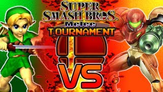 Super Smash Bros. Melee Tournament | Part 1 - First Round: Game 1 - Young Link vs Samus