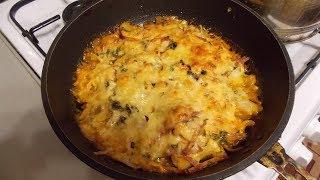 Отварной картофель запечённый с сыром в духовке.