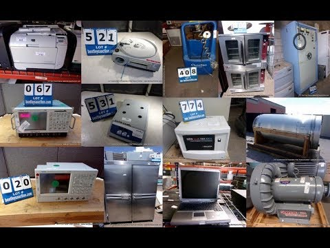 727 Government & Corporate 2 Day Surplus Auction Lot #'s 1 - 832