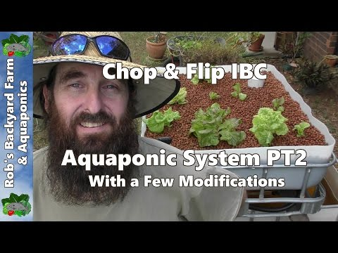 How to Build A Chop & Flip Aquaponic System. A few Useful Mod's on My Parents System.