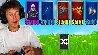 RANDOM RARE OUTFIT *MONEY* CHALLENGE in Fortnite Battle Royale
