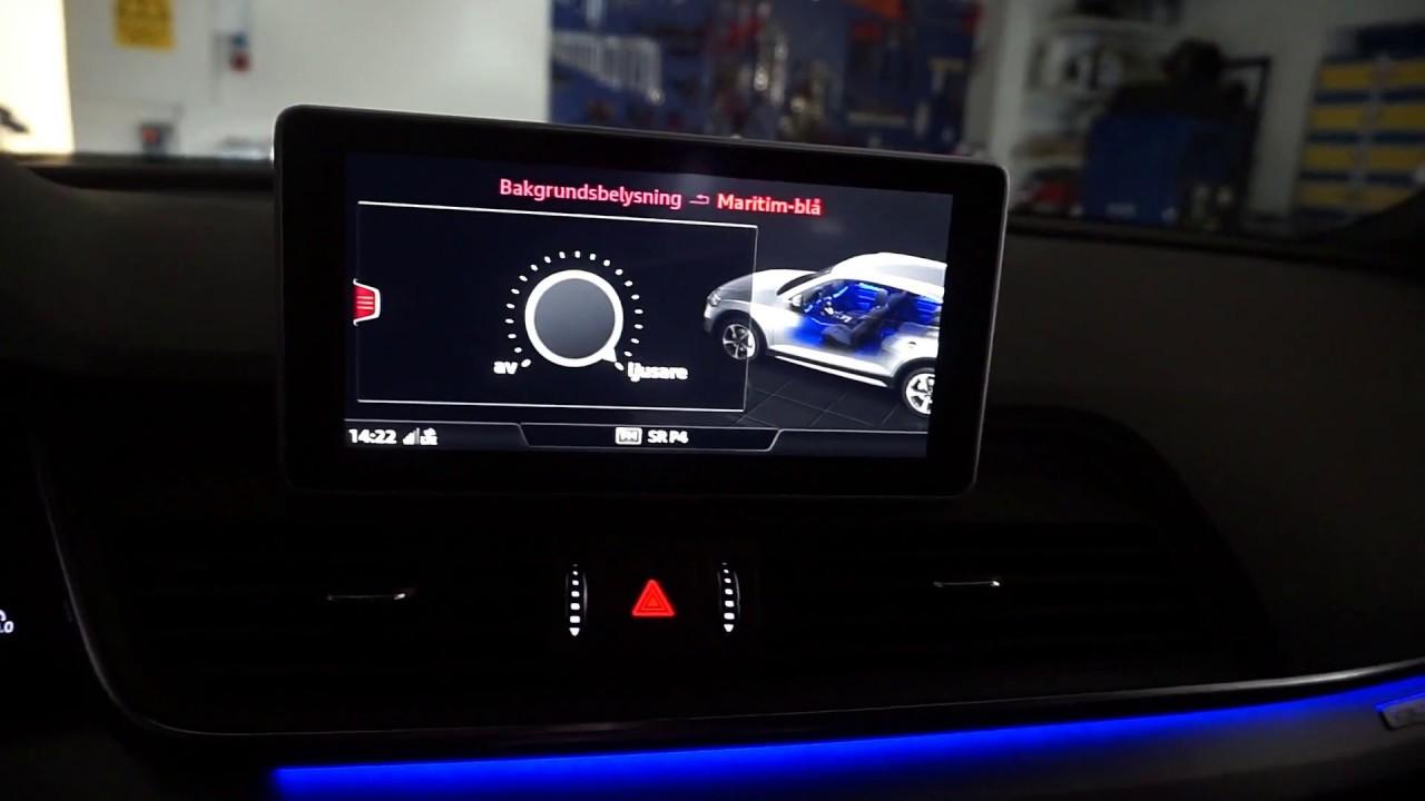 Audi Q5 Ambient Kontur Belysning Installation