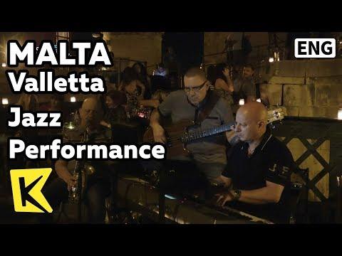 【K】Malta Travel-Valletta[몰타 여행-발레타]금요일 밤 재즈 공연/Unesco/Jazz/Performance/Friday/Music