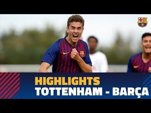 [HIGHLIGHTS] YOUTH LEAGUE: Tottenham - FC Barcelona (1-1)