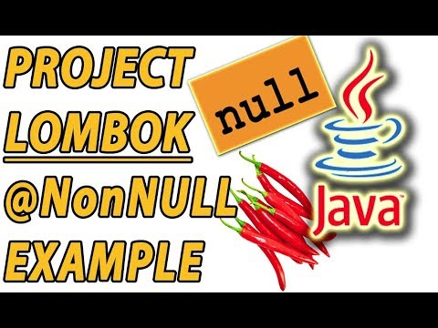 Project Lombok Java NonNull Example (Part 9)
