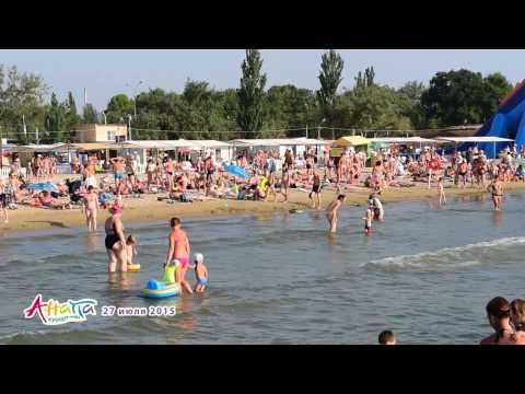 Анапа пляж центральный 27 июля 2015