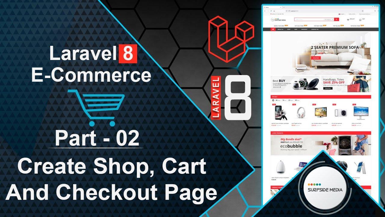 Laravel 8 E-Commerce - Create Shop, Cart And Checkout Page