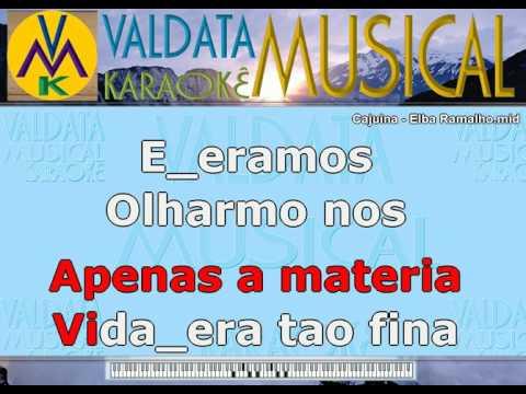Cajuina   Elba Ramalho   Karaoke