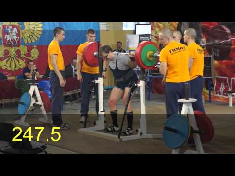 Central Federal District tournament (RPF) 07 12 14 RAW Squat
