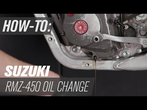 How To Change The Oil On A Suzuki RM-Z450