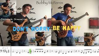 Don't Worry, Be Happy - Bass Guitar (with bass transcription)