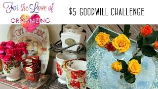 $5 Goodwill Challenge: Spring Edition | Decor | Organizing