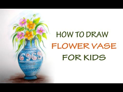 How To Draw Flower Vase Step By Step Easily Youtube