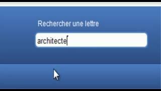 lettre de motivation pour architecte