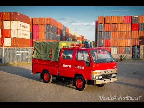 FOR SALE: 1991 TOYOTA Toyoace / Hiace 2wd Double Cab Fire Captain's Truck by VANLIFE NORTHWEST