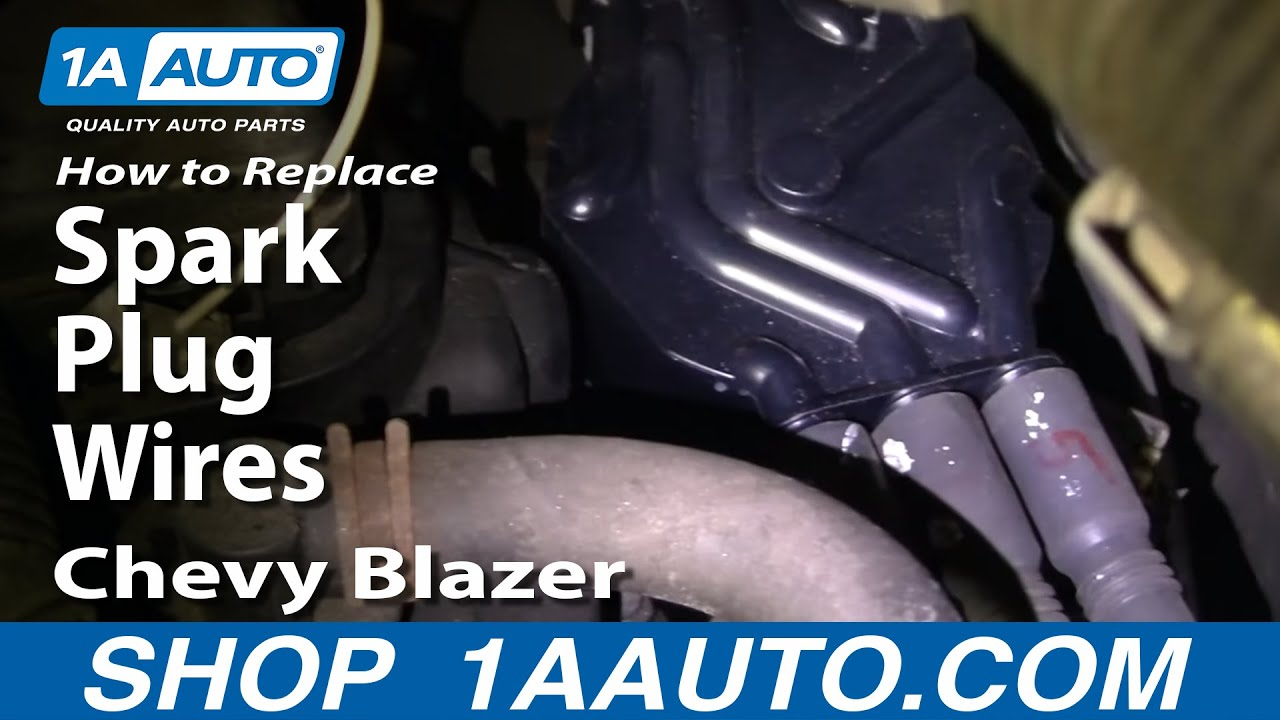 hight resolution of how to replace spark plug wires 94 05 chevy blazer s10