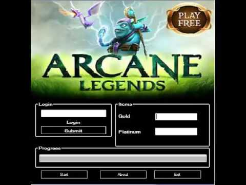 Arcane Legends Gold And Platinum HACK 2016