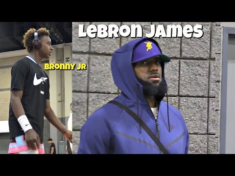 LEBRON JAMES Pulls Up To USBA Nationals! Watches Bronny Jr