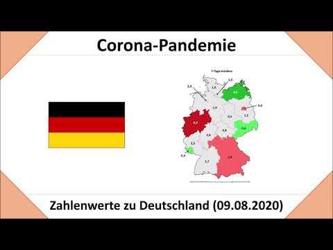 Coronavirus in Deutschland im Überblick - Stand: 09.08.2020 (COVID-19   Dtl. und Bundesländer)