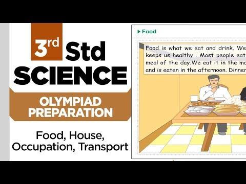 3rd Std Science Olympiad || Food,House,Occupation,Transport || Practice || Olympiad Preparation