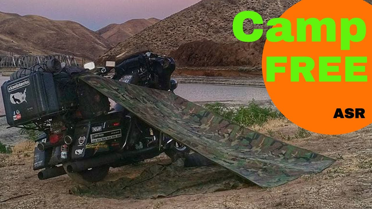 free motorcycle camping  Roadside Camping - How to Motorcycle Lean-To - Camp Free Anywhere ...