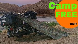 Roadside Camping - How to Motorcycle Lean-To - Camp Free Anywhere