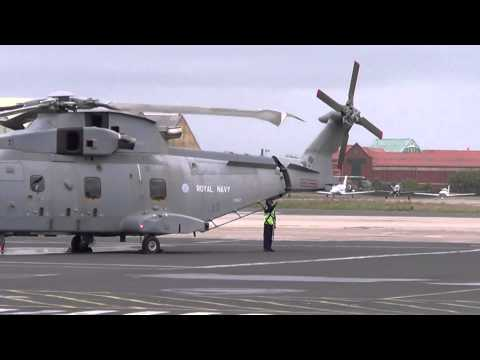 Royal Navy Fleet Air Arm Merlin Helicopter@Blackpool Airport