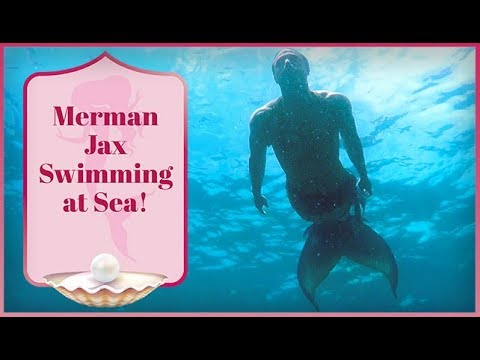 REAL Merman Sighting! Merman Jax Swimming at Sea!!