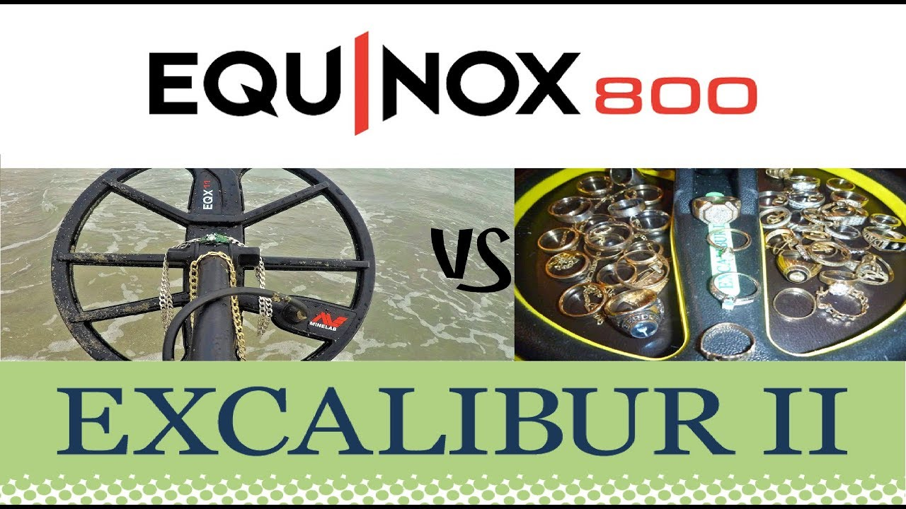 Beachhunters Password excal vs equinox on gold chains & rings (best test video