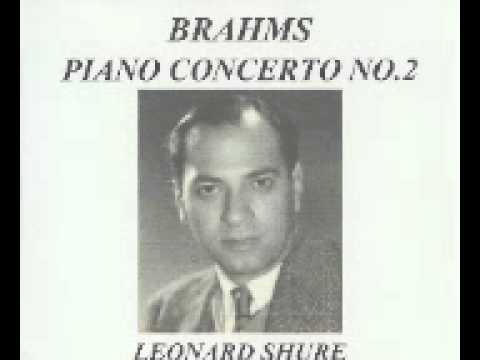 Leonard Shure Plays Brahms Piano Concerto NO.2  in B-Flat, Op. 83   October, 1982