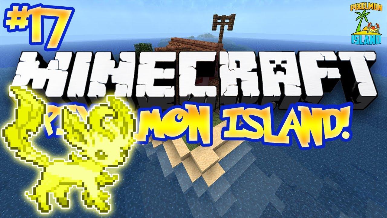 """SHINY LEAFEON!"" - PIXELMON ISLAND ADVENTURE! (Minecraft ..."