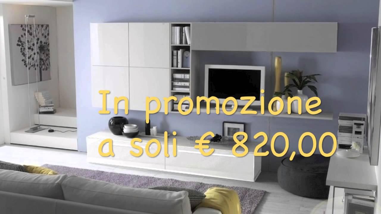 Parete attrezzata bianco/legno mobile tv moderno casa soggiorno sala. I Nostri Mobili Soggiorno Piu Convenienti Youtube