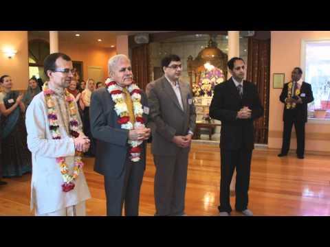 Ambassador of India HE Ashok Sajjanhar visits ISKCON Riga temple - part 1