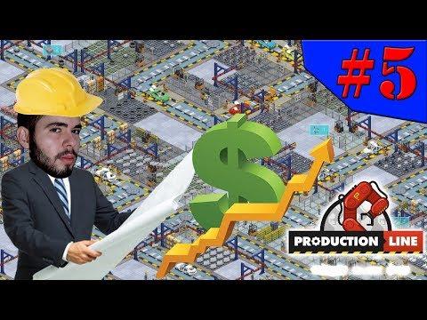 Production Line - AGORA VAMOS TER UMA FÁBRICA GIGANTE!!! #5 (Gameplay / PC / PTBR) HD
