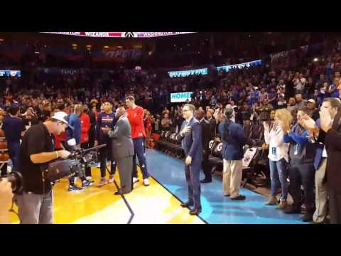 Scott Brooks Standing Ovation In OKC!!! Thunder Vs Wizards 11/30/16