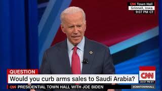 Joe Biden- Sale of Arms to Saudi Arabia