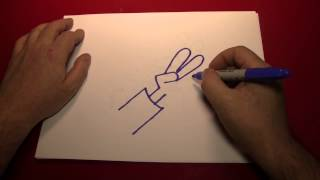 Doodling (Drawing a Cartoon Hand Making a Peace Sign)