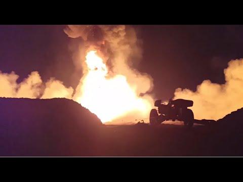 В Иркутской области использовали противотанковую пушку при тушении пожара на нефтяной скважине