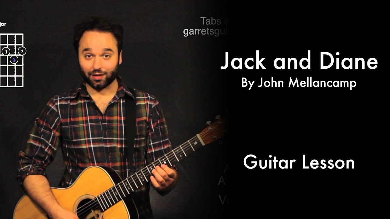 Jack And Diane By John Mellancamp Tutorial Youtube
