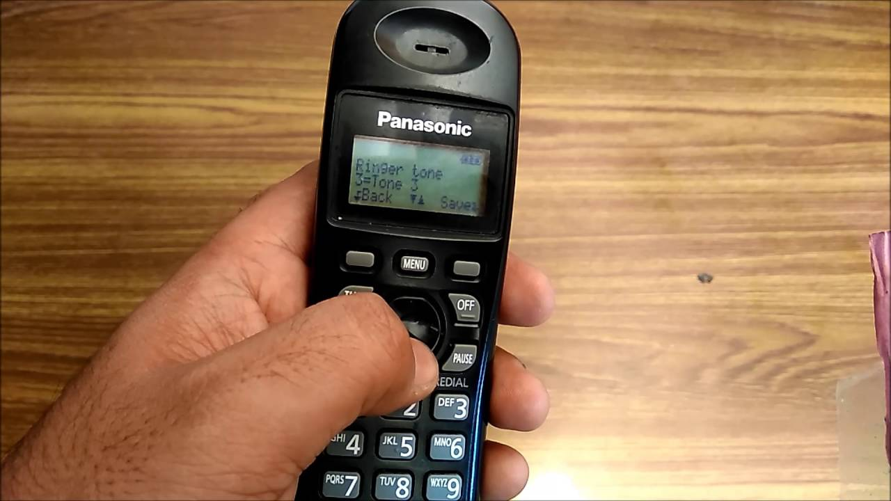 how to change the ringtone on panasonic cordless landline phone kx rh youtube com panasonic cordless phone manual kx-tga641c Panasonic Owner's Manual Online