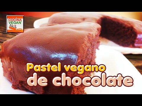 Pastel vegano de chocolate - Cocina Vegan Fácil
