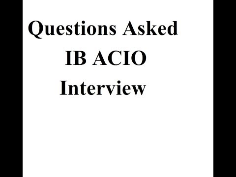 My IB Intelligence Bureau ACIO 2015  Interview Experience Questions Asked