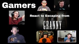 Gamers React to Escaping from Granny